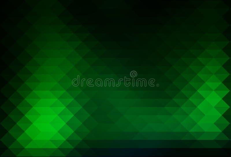 File verdi al neon d'ardore del fondo dei triangoli illustrazione vettoriale