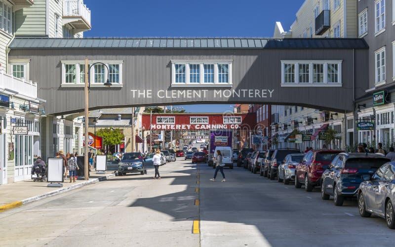 Fileira da fábrica de conservas, baía de Monterey, península, Monterey, Califórnia, Estados Unidos da América, America do Norte fotos de stock