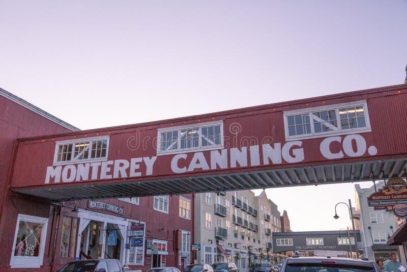 Fileira da fábrica de conservas em Monterey imagens de stock royalty free