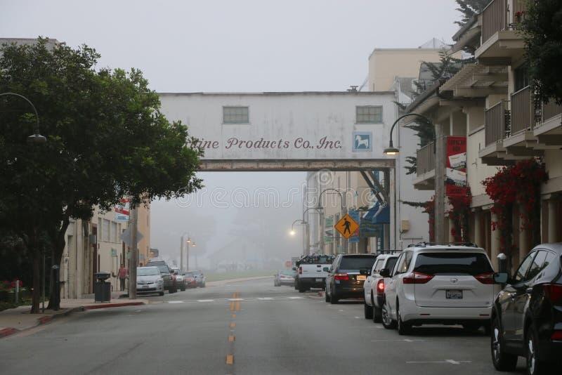 Fileira da fábrica de conservas, Monterey CA imagem de stock
