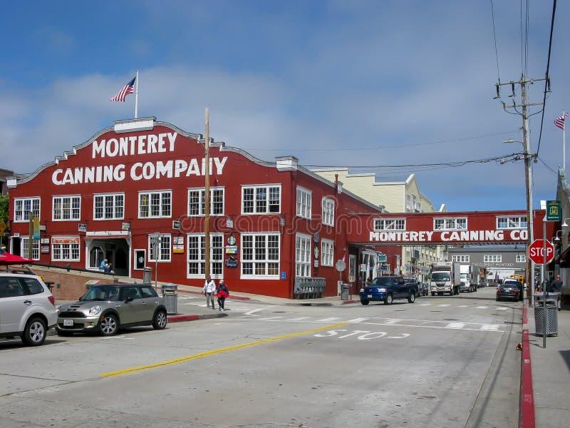 Fileira da fábrica de conservas, Monterey CA fotografia de stock