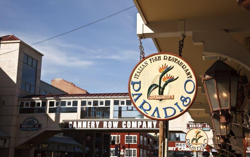 Fileira da fábrica de conservas, Monterey, Califórnia imagem de stock