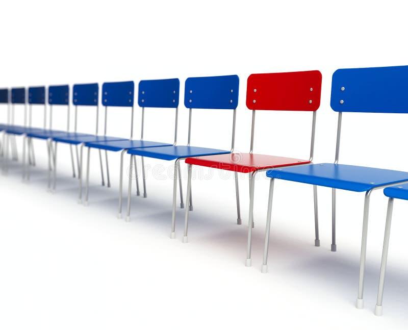 Fileira das cadeiras ilustração stock