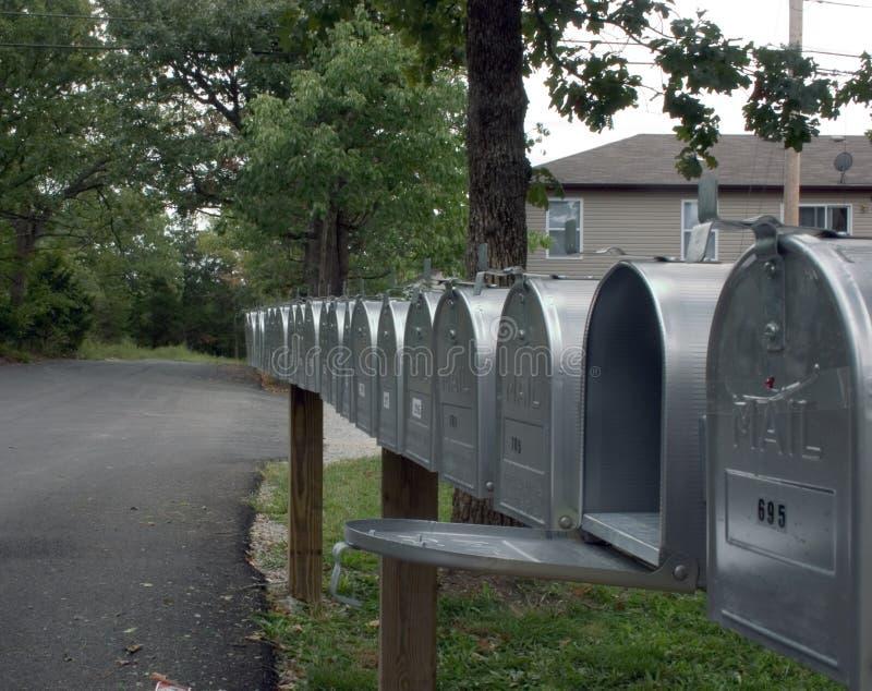 Fileira das caixas 2 do correio imagem de stock