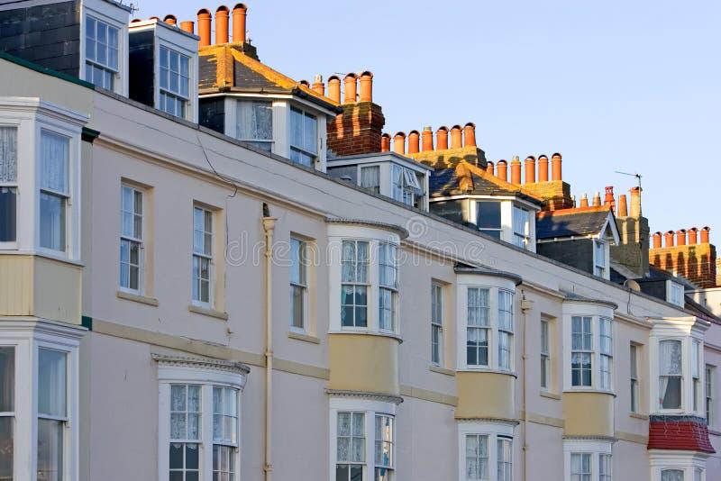 Fileira das residenciais em Inglaterra fotos de stock