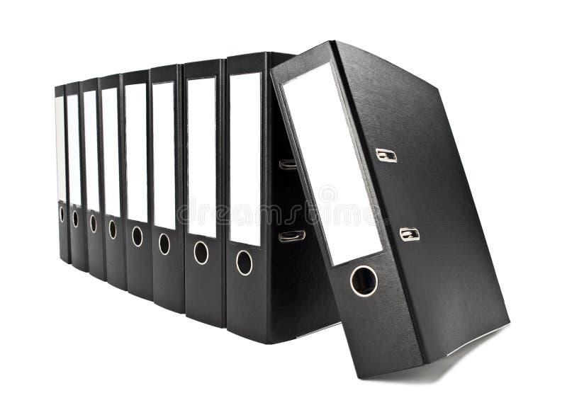 Fileira de dobradores de arquivo fotos de stock