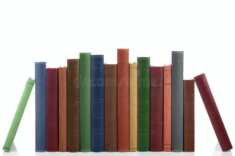 Fileira de livros velhos. foto de stock royalty free