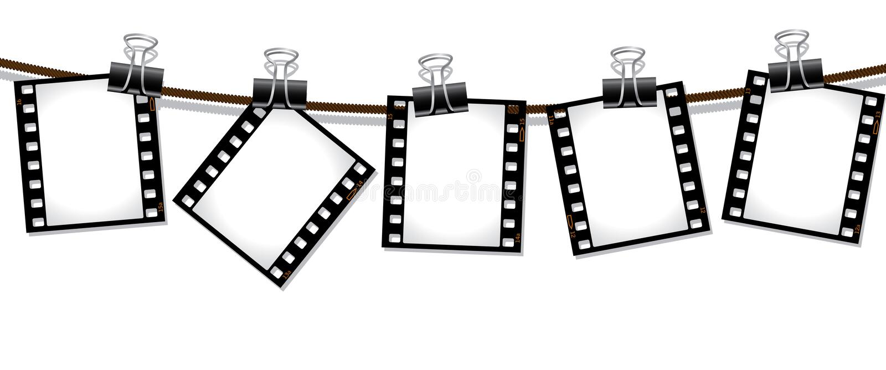 Fileira de negativos de película