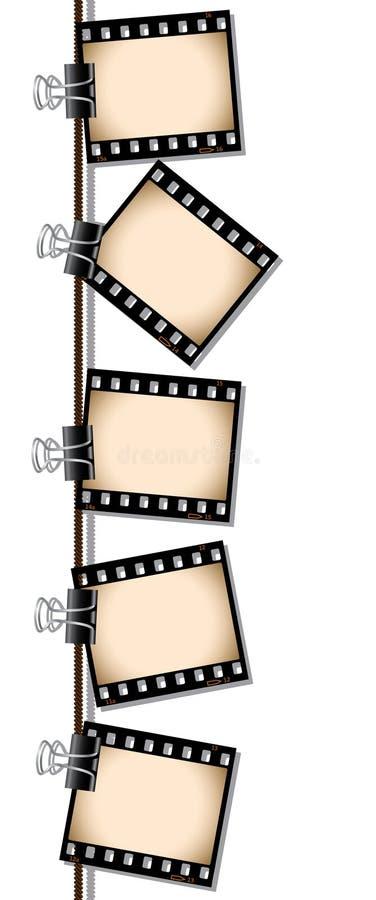 Fileira de negativos de película do sepia ilustração royalty free