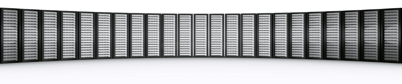 Fileira de server da cremalheira ilustração do vetor
