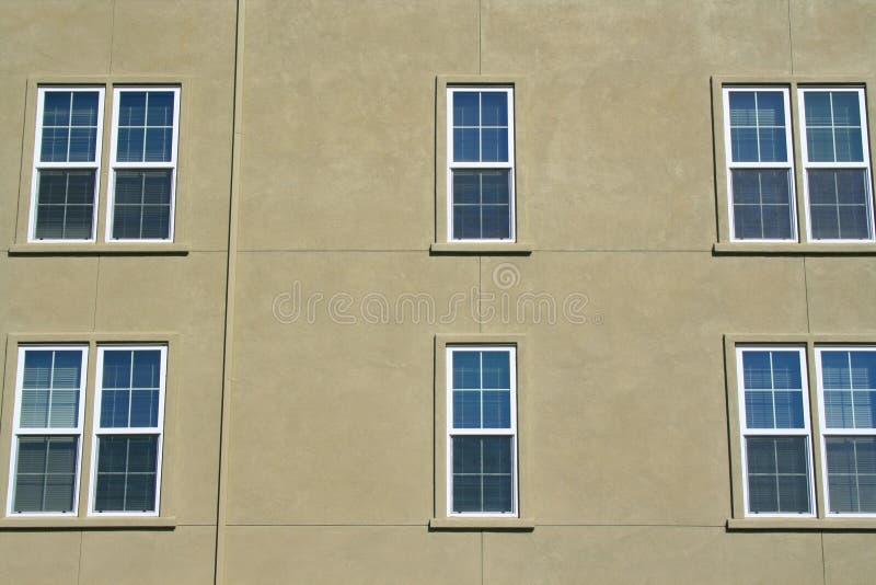 Fileira de Windows fotografia de stock