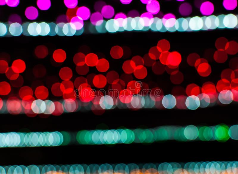 Fileira do bokeh colorido fotos de stock