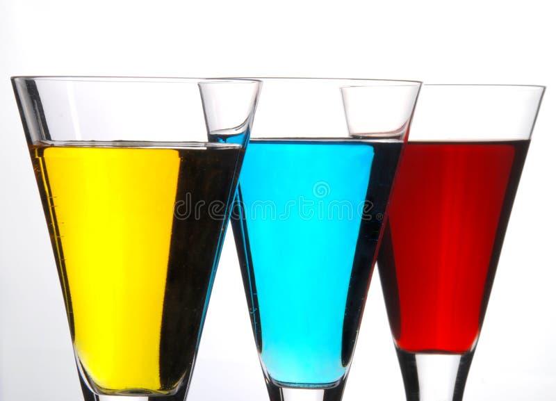 Fileira do cocktail fotografia de stock royalty free