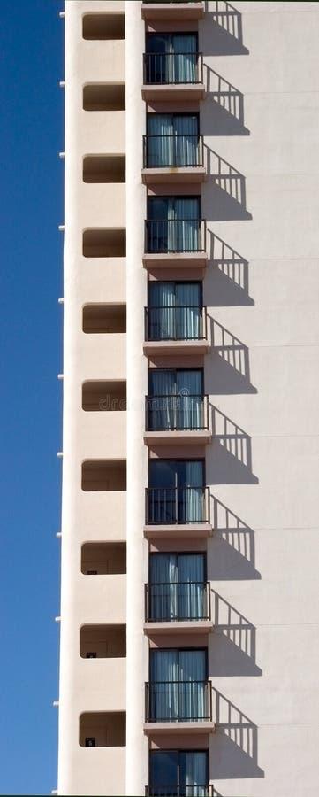 Fileira do hotel Windows fotos de stock