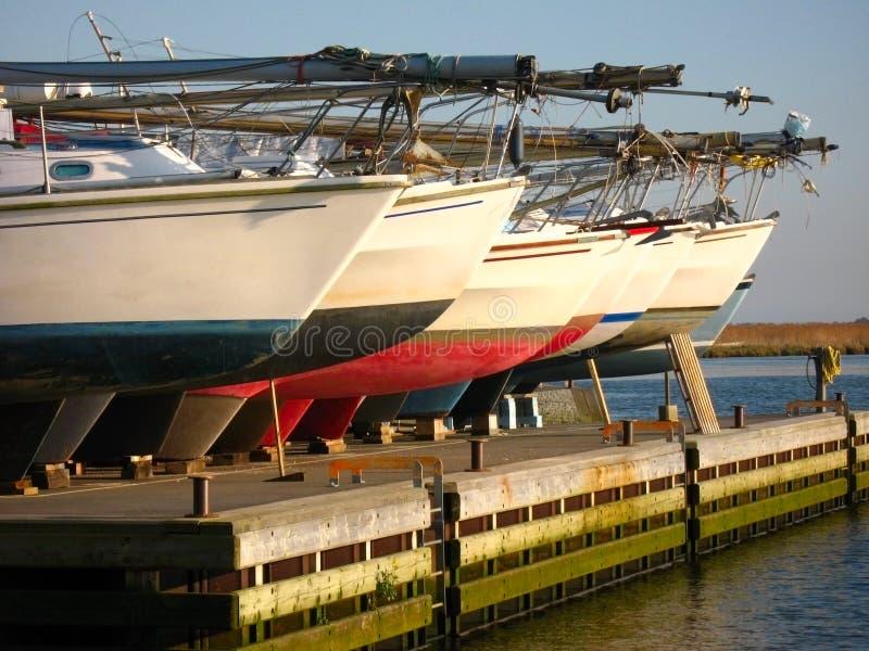 Fileira dos barcos imagem de stock