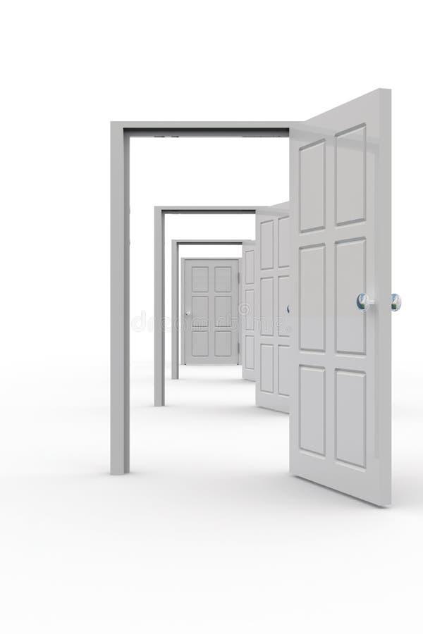 Fileira dos estares abertos ilustração stock