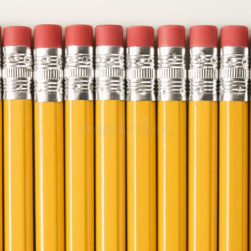 Fileira dos lápis. foto de stock