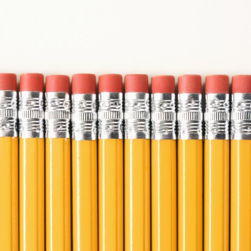 Fileira dos lápis. imagem de stock