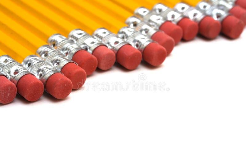 Fileira dos lápis foto de stock royalty free