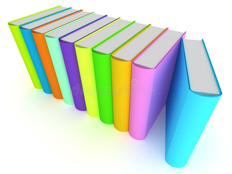 Fileira dos livros ilustração royalty free