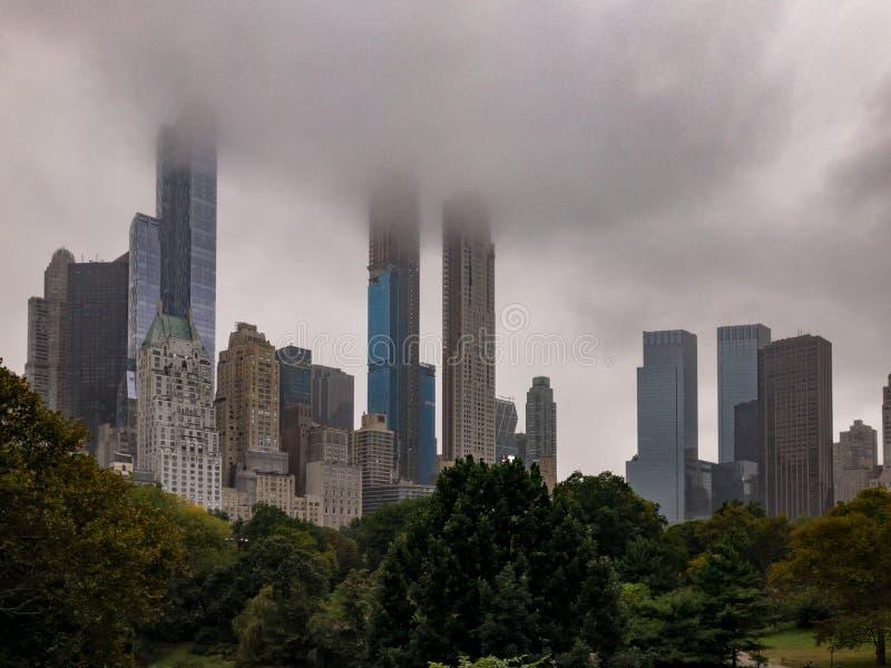 A fileira dos multimilionário - Central Park - New York City imagem de stock