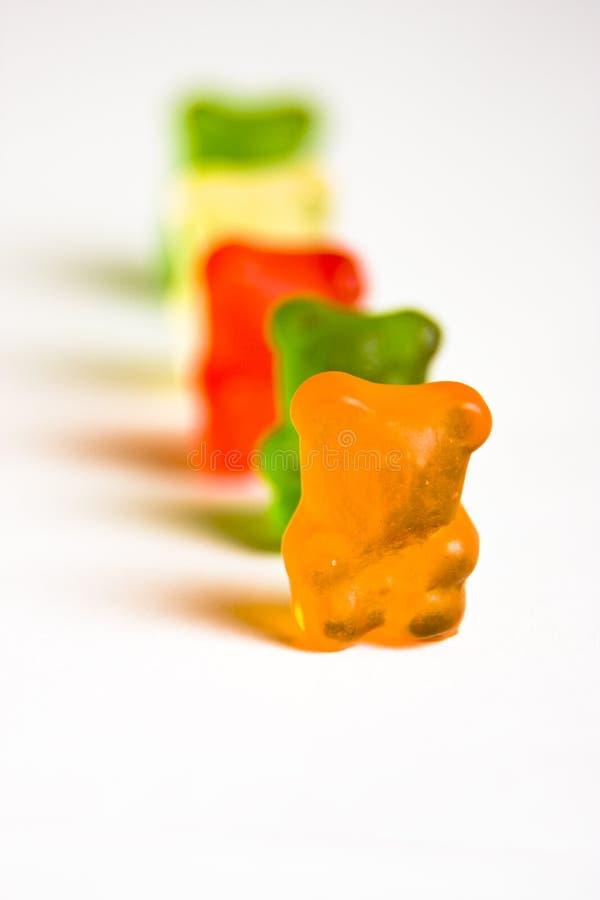 Fileira gomosa 2 do urso fotos de stock