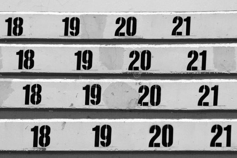 Fileira numerada dos assentos foto de stock royalty free