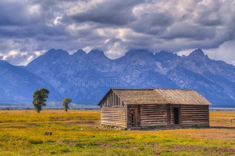 Fileira Teton grande do mórmon fotos de stock royalty free