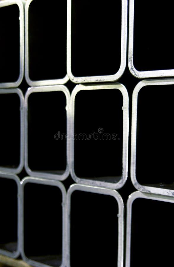 Fileiras da tubulação de aço imagem de stock royalty free