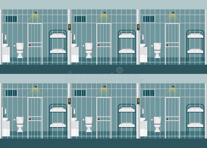 Fileiras das celas ilustração royalty free
