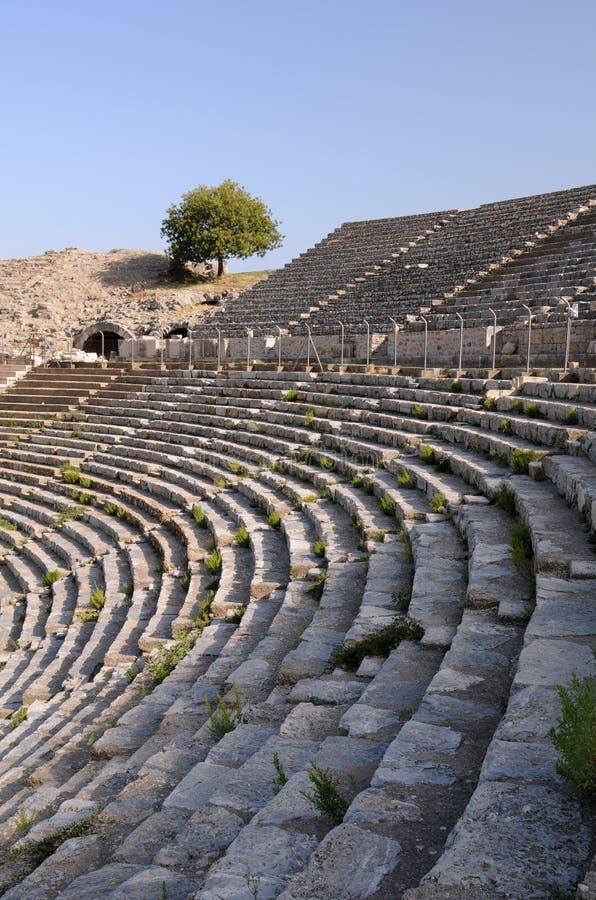 Fileiras Do Teatro Antigo Imagens de Stock