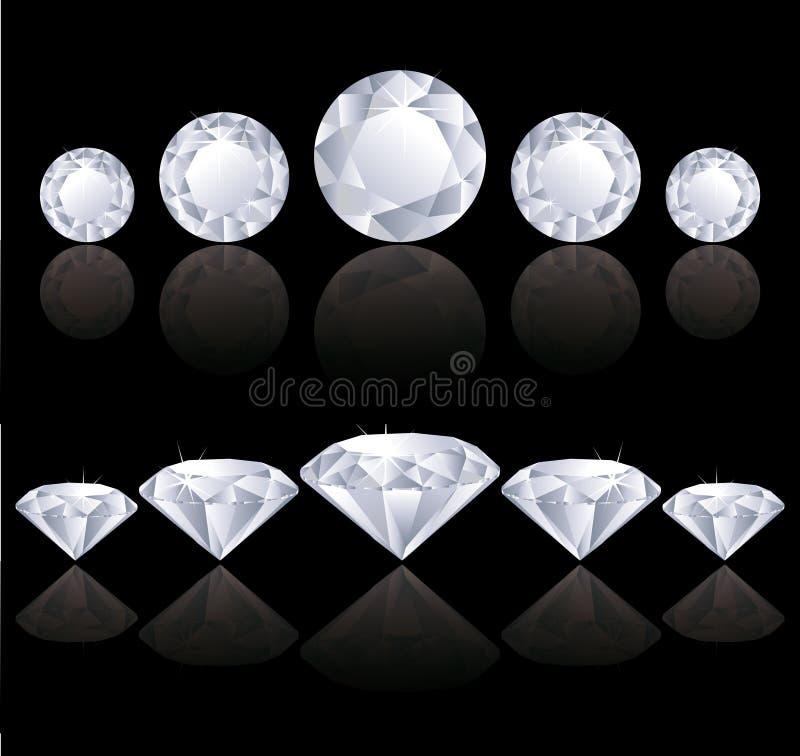Fileiras dos diamantes ilustração do vetor