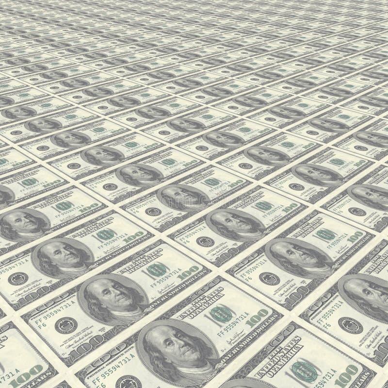 Fileiras infinitas do dinheiro foto de stock royalty free