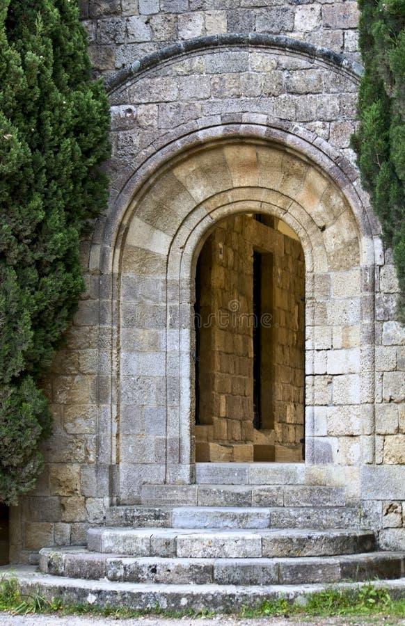 filerimos brama Greece średniowieczny Rhodes fotografia royalty free