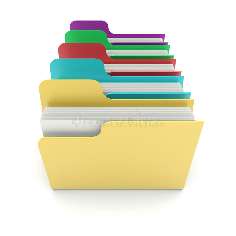 Download Files stock illustration. Image of organization, archives - 25576292
