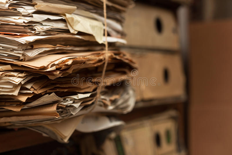 Files in Archive Room royalty free stock photos