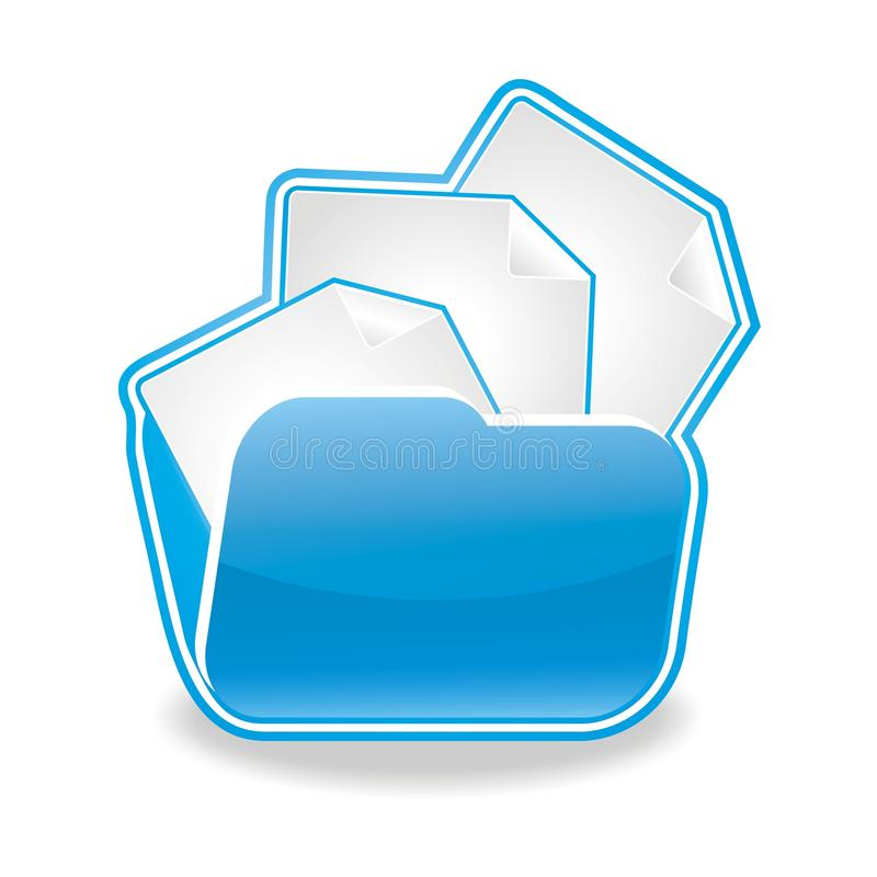Download Files And Documents Folder Icon Stock Illustration - Illustration: 12923602