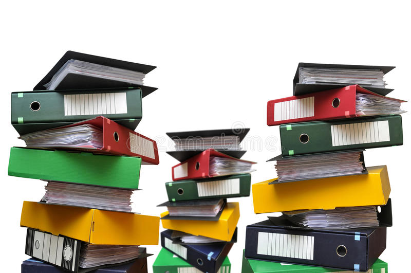 Files everywhere royalty free stock image