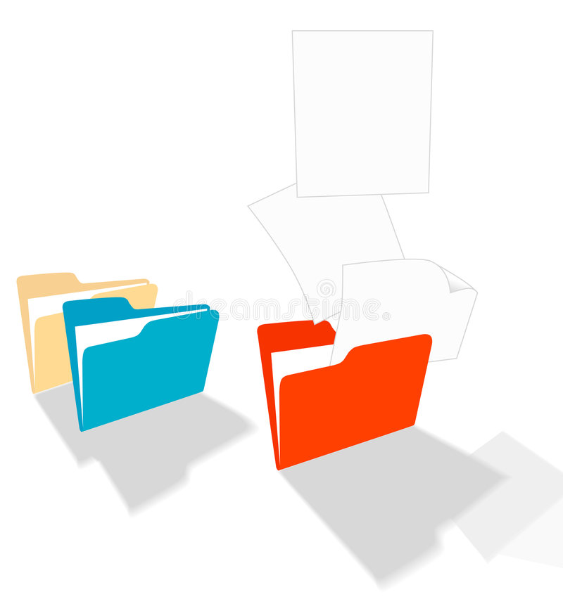 Download Files Fly from a Folder stock vector. Image of info, pages - 2374664