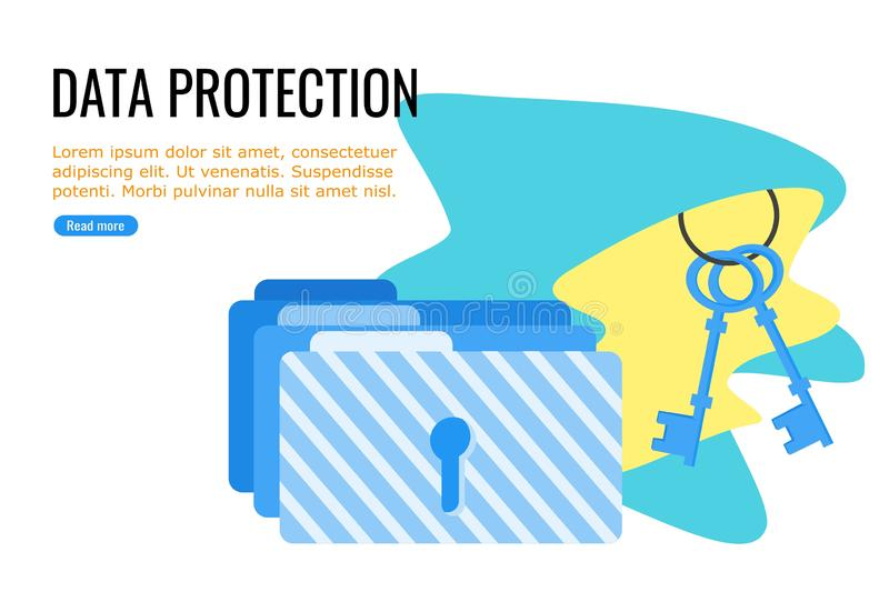 Files and Folder Protection royalty free illustration