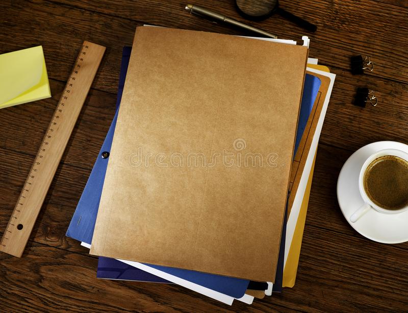 Files and folders stock photo