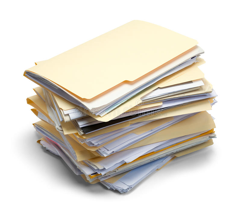 Files Folders Stacked royalty free stock photography