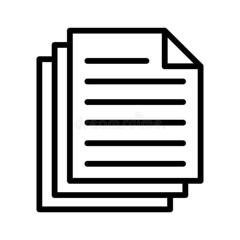 Files thin line vector icon stock illustration