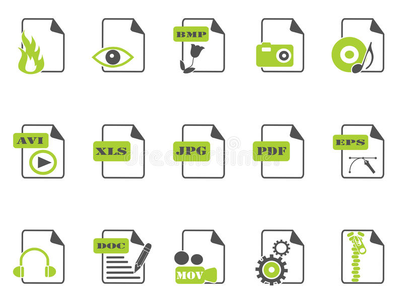 Download Files Icon Set,green Series Stock Vector - Illustration: 26109669