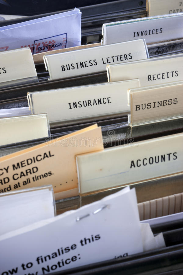 Files Insurance Business Royalty Free Stock Images