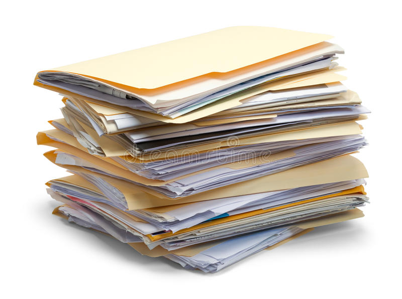 Files Piled Up royalty free stock photography