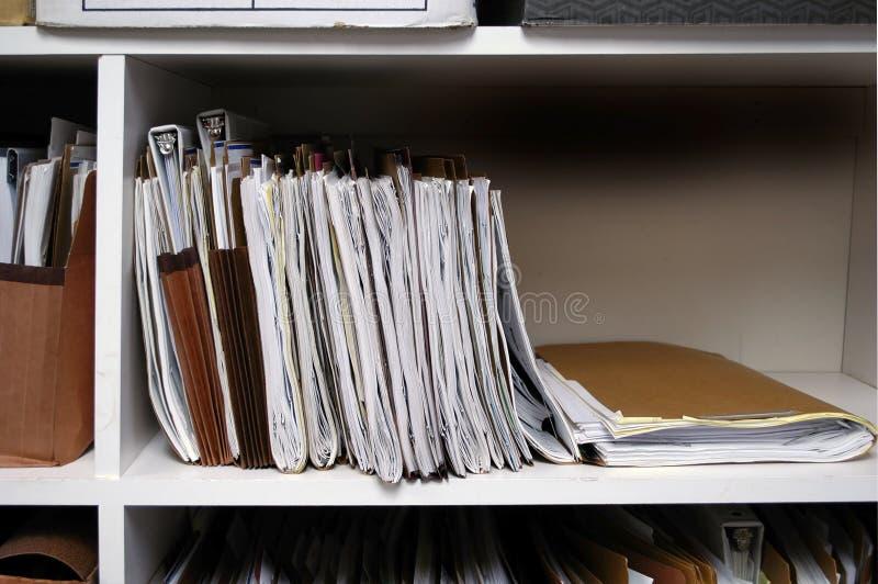 Download Files on Shelf stock image. Image of full, brown, folders - 4087883