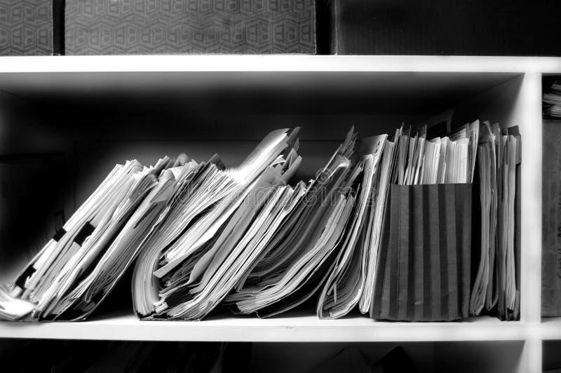 Files On Shelf Stock Image