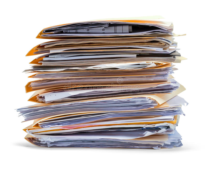 Files Stack Side View stock photos