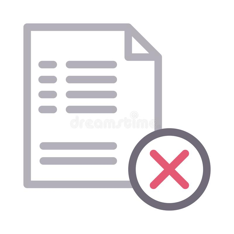 Files thin color line vector icon stock illustration